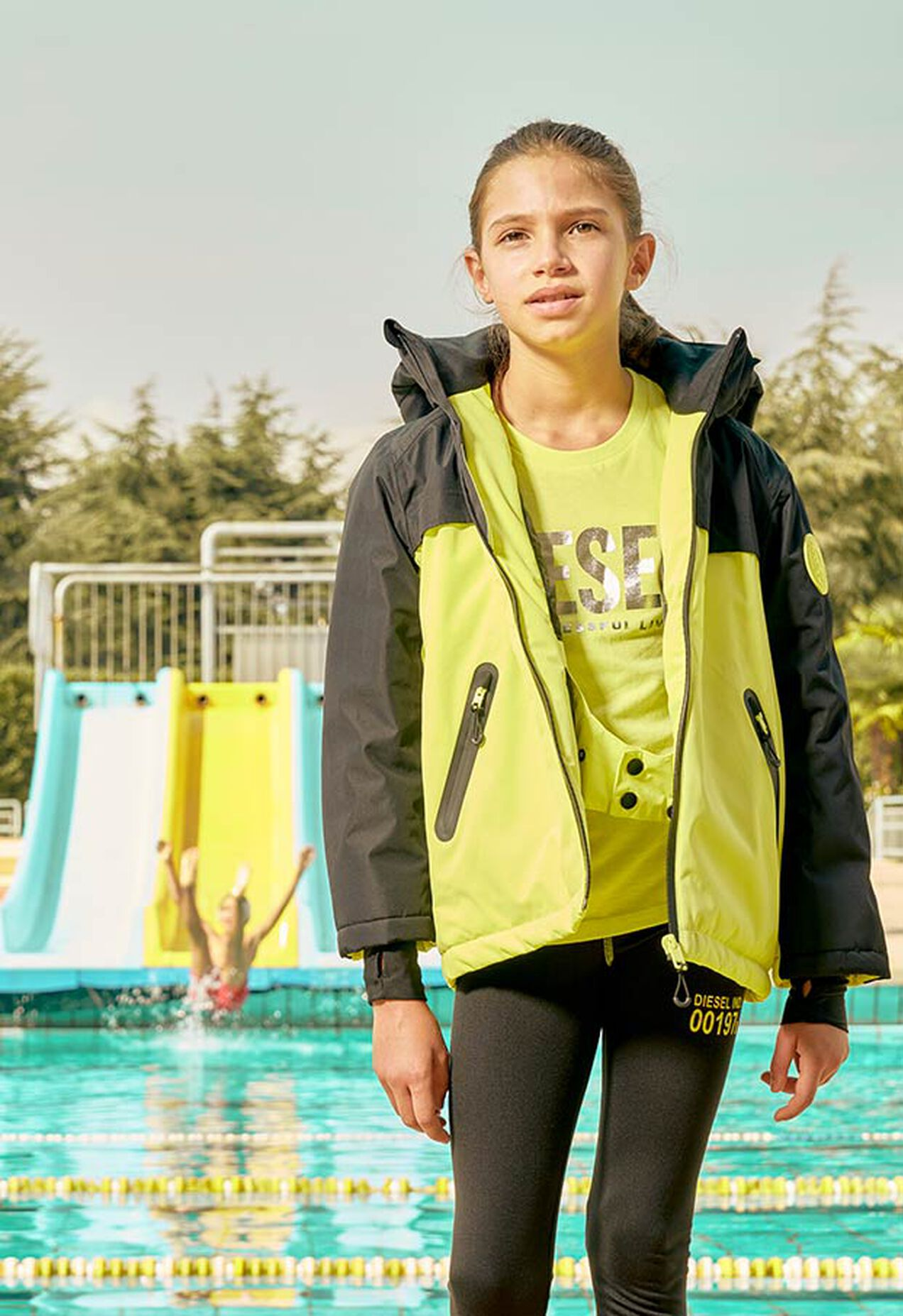 JPOLAR-SKI, Black/Yellow - Ski wear