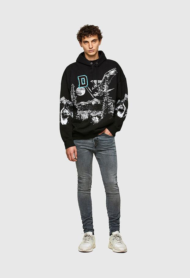 D-REEFT JoggJeans® 069RD, Black/Dark grey - Jeans