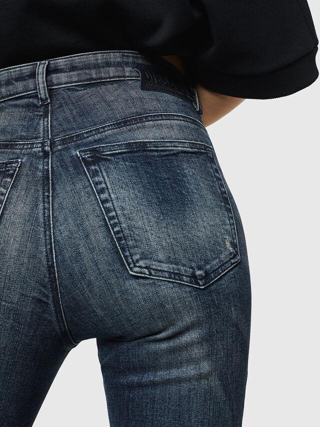 Diesel - Babhila High 069HN, Dark Blue - Jeans - Image 5