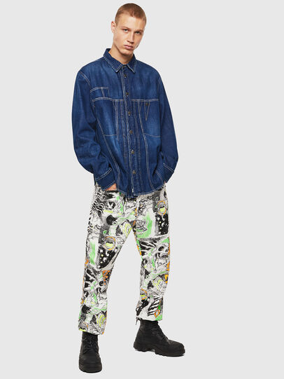 Diesel - D-FLOX, Medium blue - Denim Shirts - Image 5