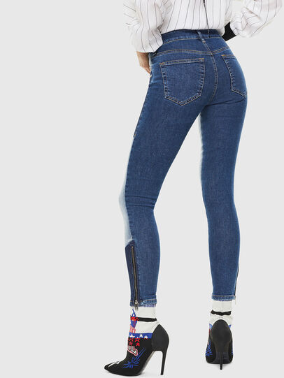 Diesel - Slandy Zip 0890L, Medium blue - Jeans - Image 2