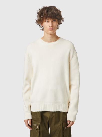 Diesel - K-ATHENS, White - Knitwear - Image 1