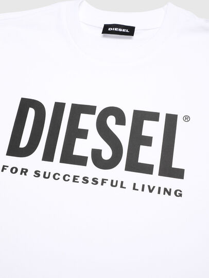 Diesel - TJUSTLOGO, White - T-shirts and Tops - Image 3