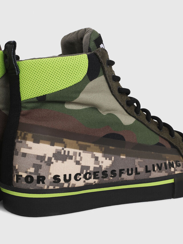 Diesel - S-DVELOWS MID, Green Camouflage - Sneakers - Image 4