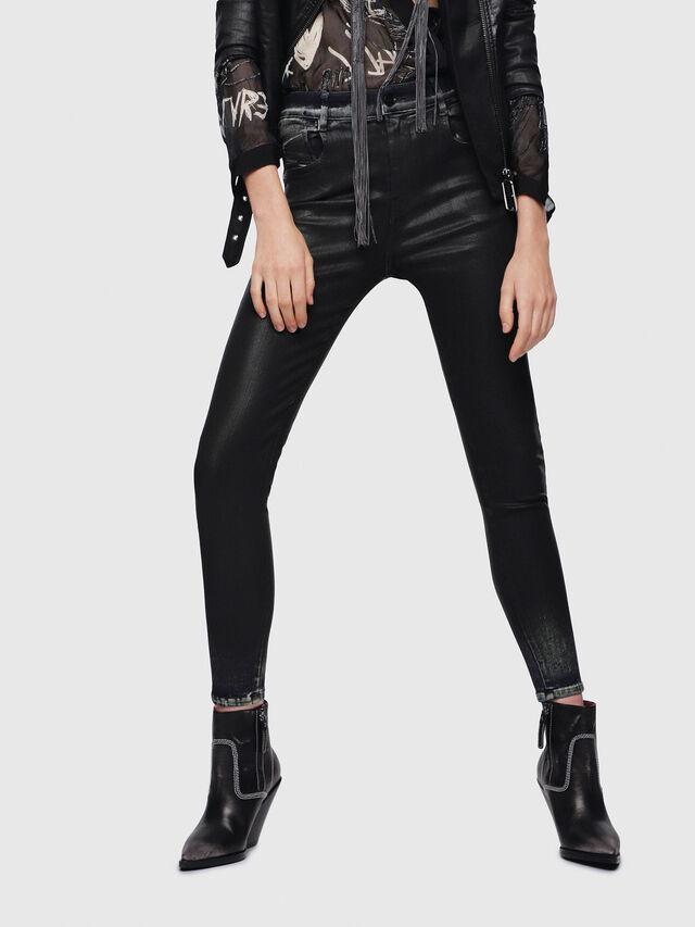 Diesel - Slandy High 069DD, Black/Dark grey - Jeans - Image 1
