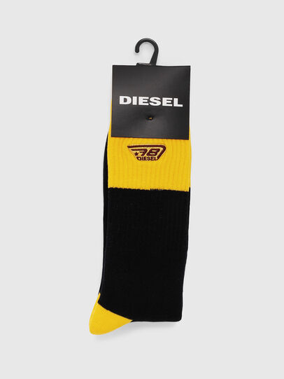 Diesel - SKM-RAY, Black/Yellow - Socks - Image 2