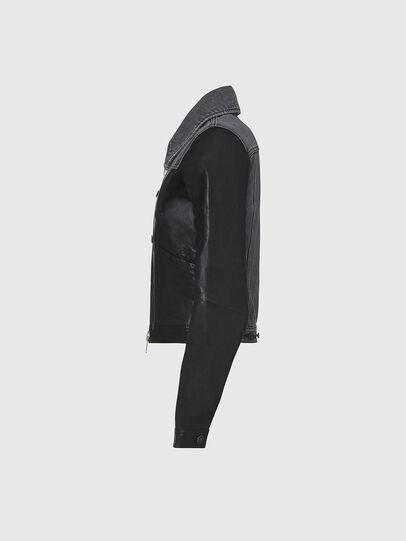 Diesel - L-LYLE, Black - Leather jackets - Image 3