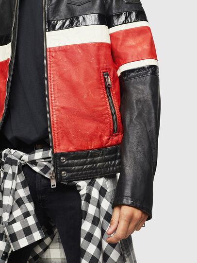 Diesel - L-ROURKE, Black/Red - Leather jackets - Image 3