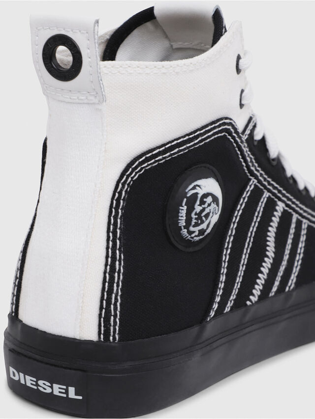 Diesel - S-ASTICO MID LACE, Black/White - Sneakers - Image 4