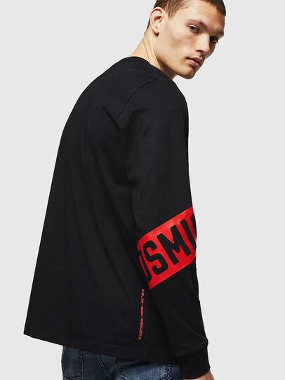Diesel - T-JUST-LS-STAR, Black - T-Shirts - Image 2