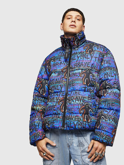 Diesel - W-PIATIG-MONSTER, Blue/Black - Winter Jackets - Image 1