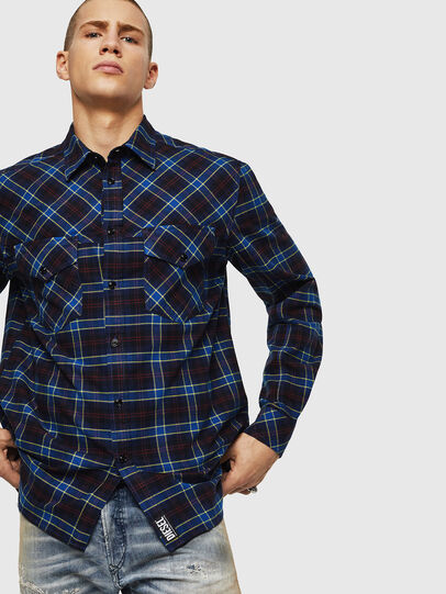 Diesel - S-TOLSTOJ, Blue - Shirts - Image 5