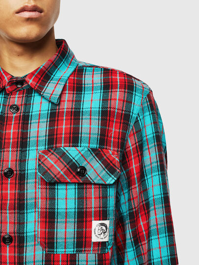 Diesel - S-GERRY-CHECK, Red - Shirts - Image 3