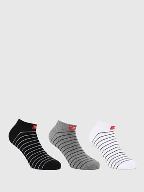 SKM-GOST-THREEPACK, Black/White - Socks