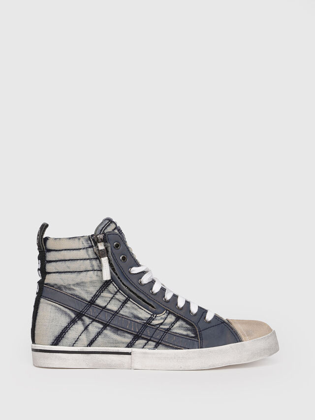 Diesel - D-VELOWS MID LACE, Blue Jeans - Sneakers - Image 1