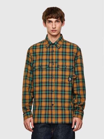 Diesel - S-JESS-CHECK, Orange/Green - Shirts - Image 1