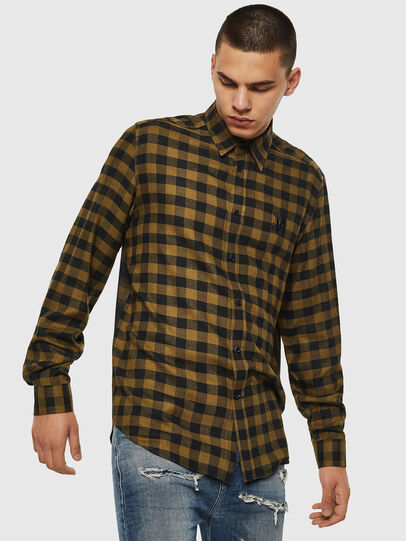 Diesel - S-VEN-CHECK, Green/Black - Shirts - Image 1