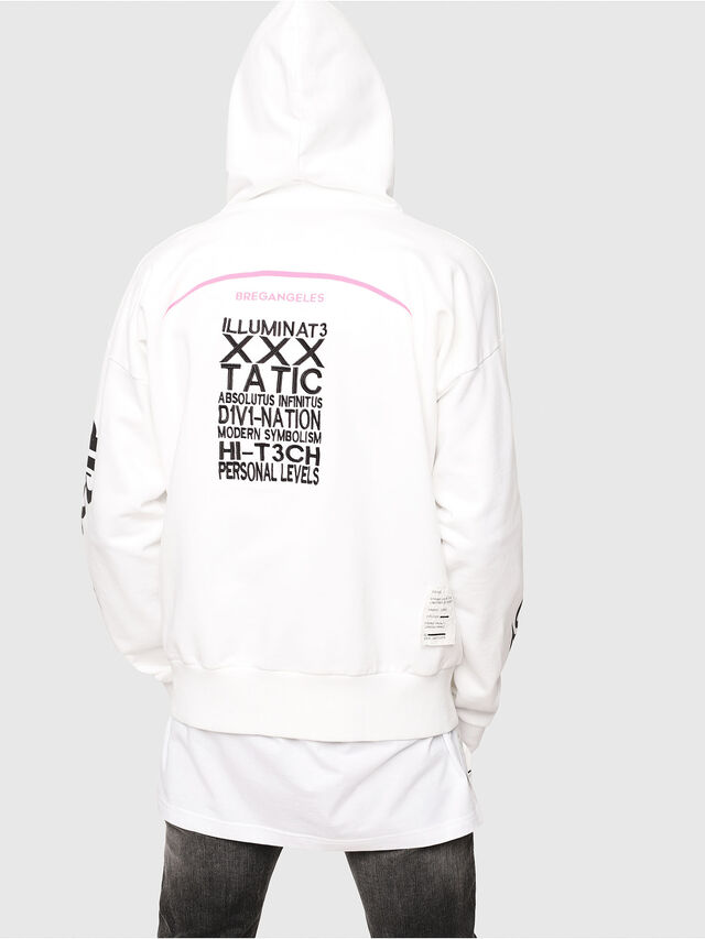 Diesel - S-ALBY-HOOD-Y2, White - Sweaters - Image 2