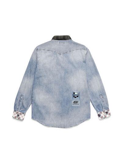 Diesel - D-DEEPCHECK-A, Light Blue - Denim Shirts - Image 2