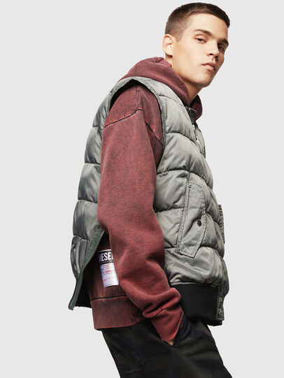 Diesel - W-KOSLOV-SL, Olive Green - Winter Jackets - Image 5