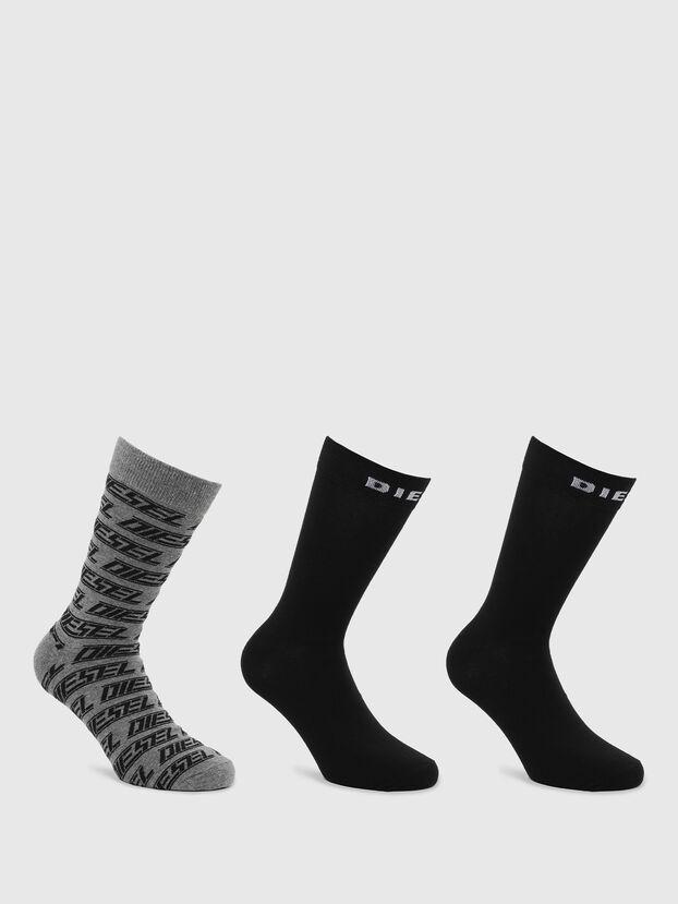 SKM-RAY-THREEPACK, Black/Grey - Socks
