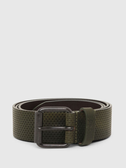 Diesel - B-LOLLO, Olive Green - Belts - Image 1