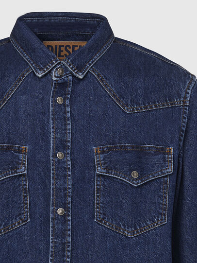 Diesel - D-EAST-P, Dark Blue - Denim Shirts - Image 3