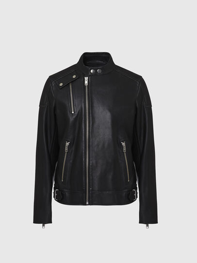 Diesel - L-CODY, Black - Leather jackets - Image 1