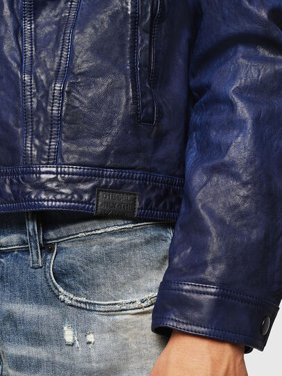 Diesel - L-NHILL, Blue - Leather jackets - Image 5