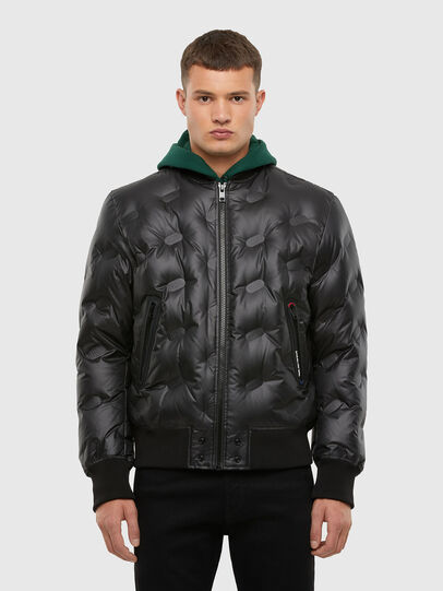 Diesel - W-ON-THERMO, Black - Winter Jackets - Image 1