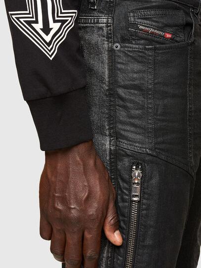 Diesel - D-Vider 009QZ, Black/Dark grey - Jeans - Image 5