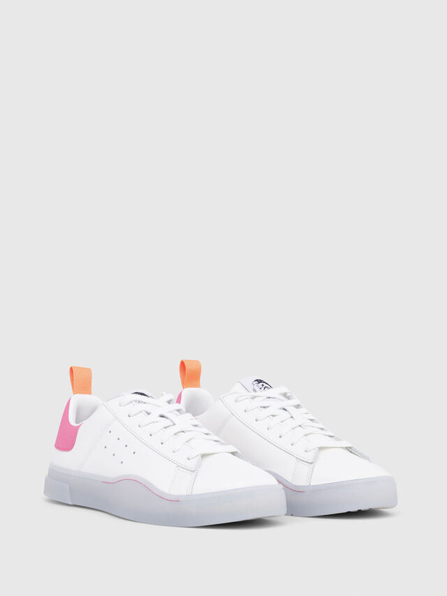 Diesel - S-CLEVER LOW W, White/Pink - Sneakers - Image 2