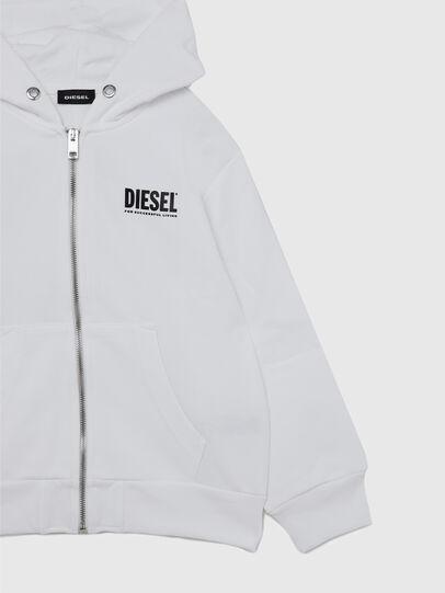 Diesel - SGIRKHOODZIP-LOGO OV, White - Sweaters - Image 4