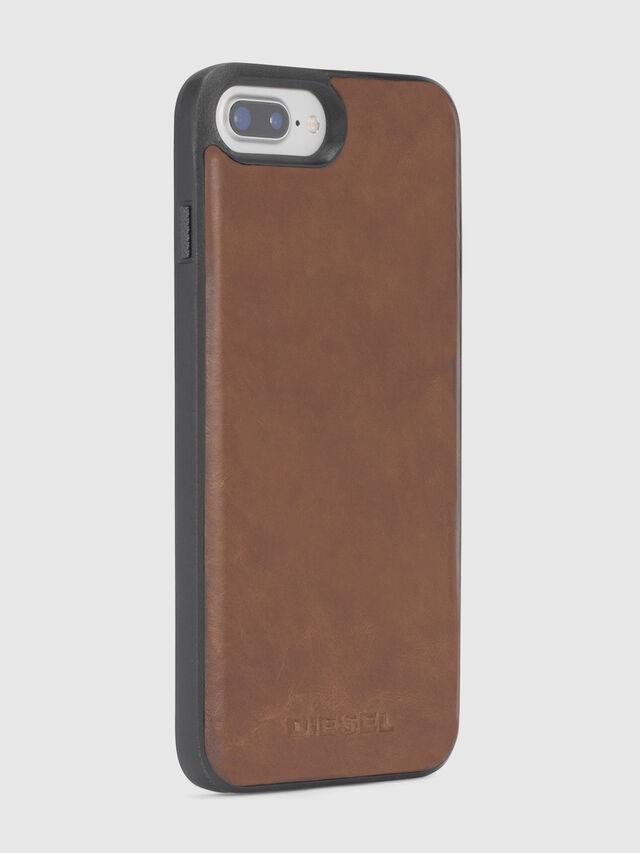 Diesel BROWN LEATHER IPHONE X CASE, Brown - Cases - Image 5