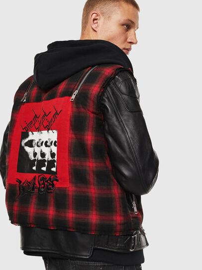 Diesel - L-NORMAN, Black - Leather jackets - Image 2