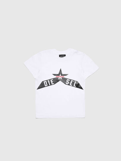 Diesel - TDIEGOA7B-R, White - T-shirts and Tops - Image 1