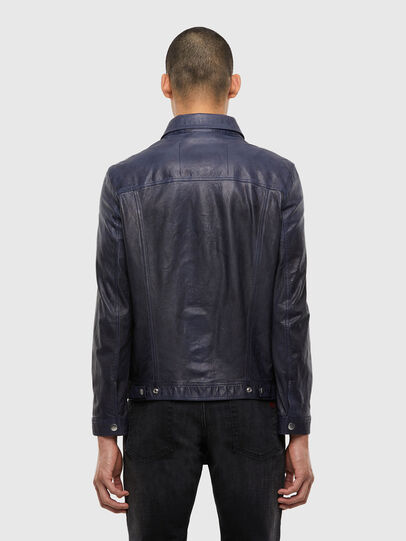 Diesel - L-NHILL-TRE, Dark Blue - Leather jackets - Image 2