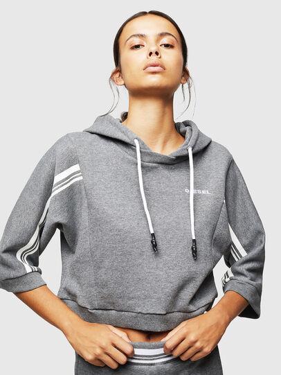 Diesel - UFLT-VERTIX-CROP, Grey - Sweaters - Image 1