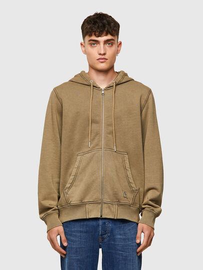 Diesel - S-GIRK-HOOD-ZIP-MOHI, Light Brown - Sweaters - Image 1