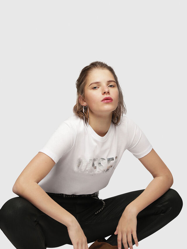 Diesel - T-SILY-WH, White - T-Shirts - Image 4