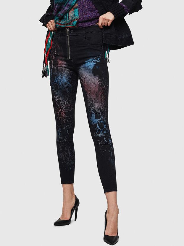 Slandy High 069IY, Black/Dark grey - Jeans