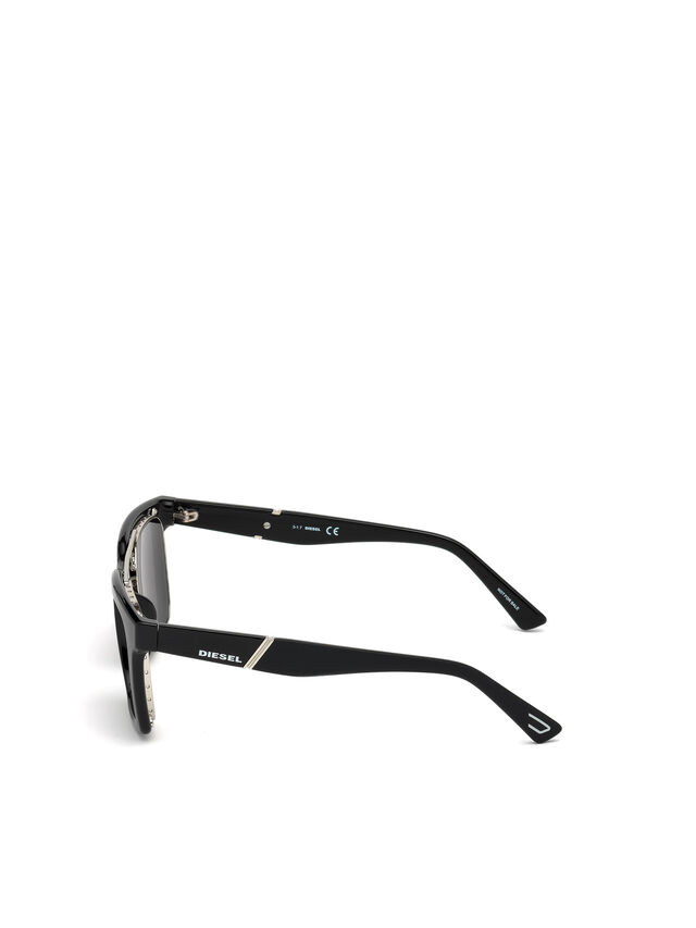 Diesel - DL0250, Bright Black - Sunglasses - Image 2