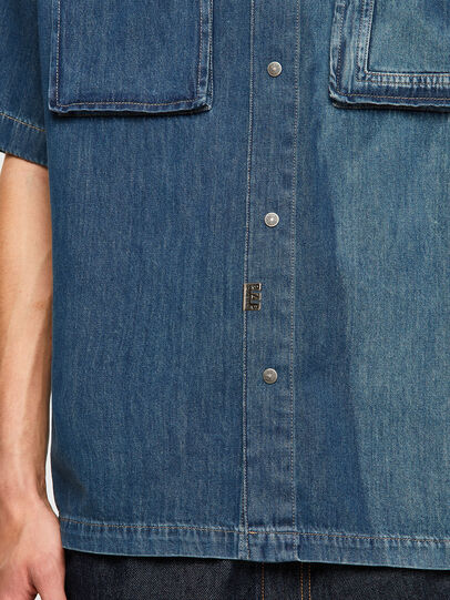 Diesel - D-GUNN-SP, Medium blue - Denim Shirts - Image 4