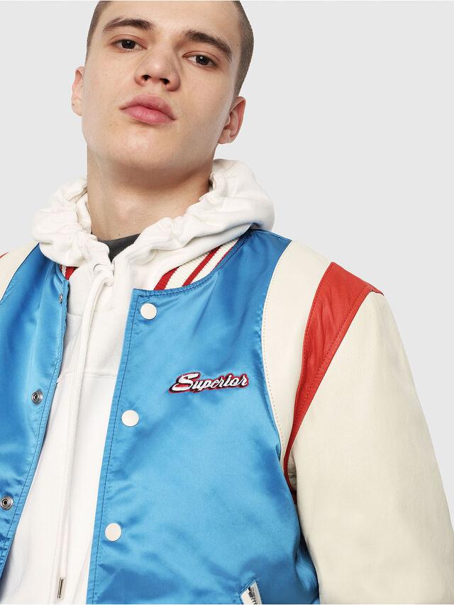 Diesel - L-HARU, White/Red/Blu - Leather jackets - Image 5