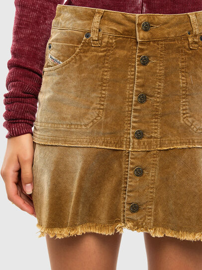 Diesel - O-BETH-C, Light Brown - Skirts - Image 4