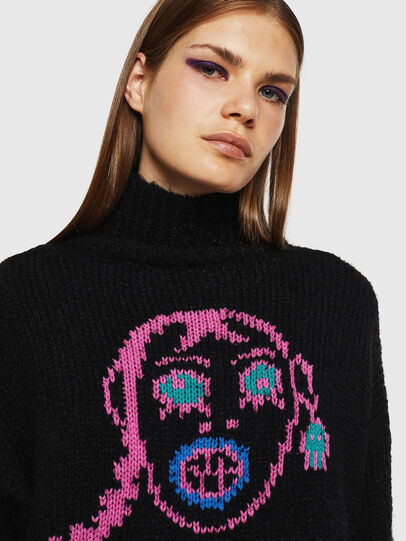 Diesel - M-CARA, Black - Knitwear - Image 3
