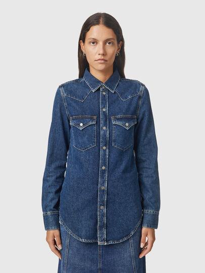Diesel - DE-RINGY, Dark Blue - Denim Shirts - Image 1