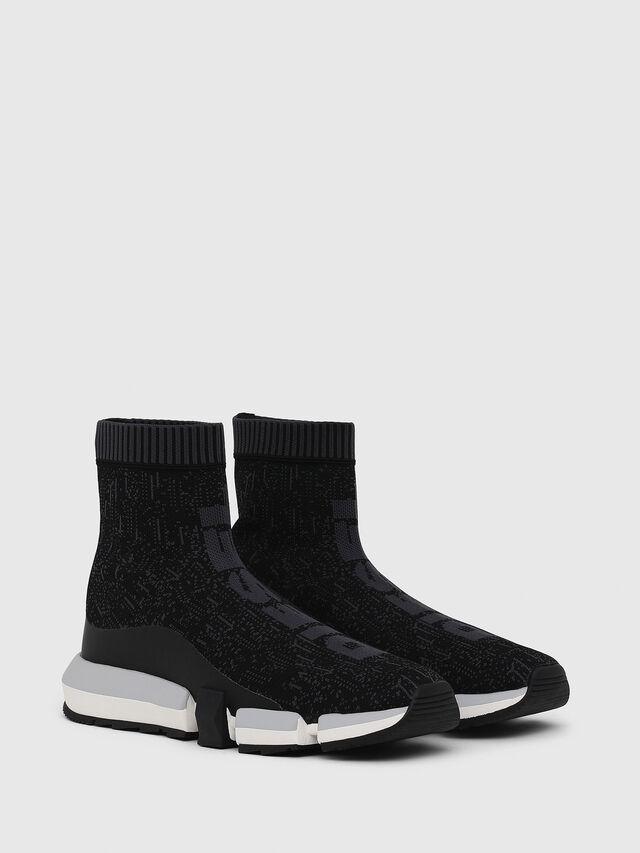 Diesel - H-PADOLA MID SOCK, Black - Sneakers - Image 2