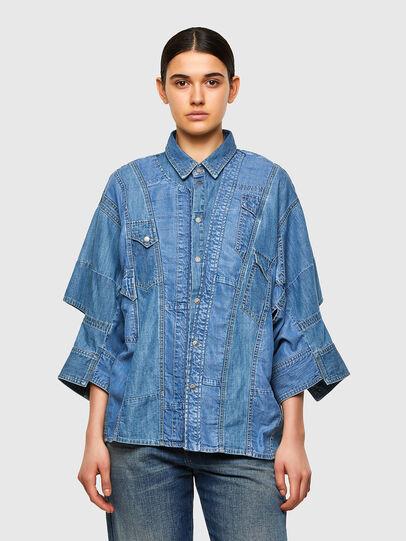 Diesel - DE-RINGLE-MM-SP, Medium blue - Denim Shirts - Image 1