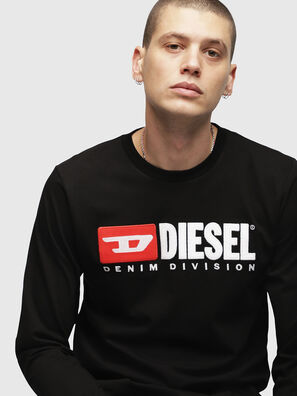 T-JUST-LS-DIVISION, Black - T-Shirts